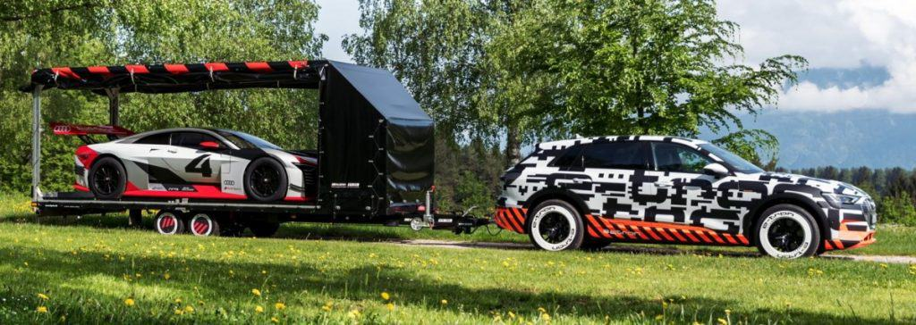 Audi E-Tron Towing a Trailer